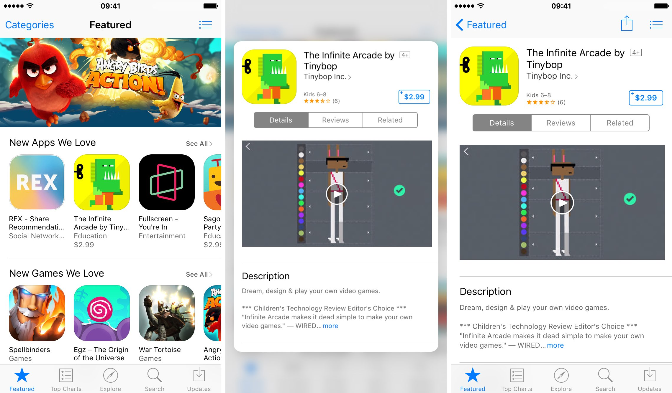 app store to gain categories tab and easier app sharing with 3d touch