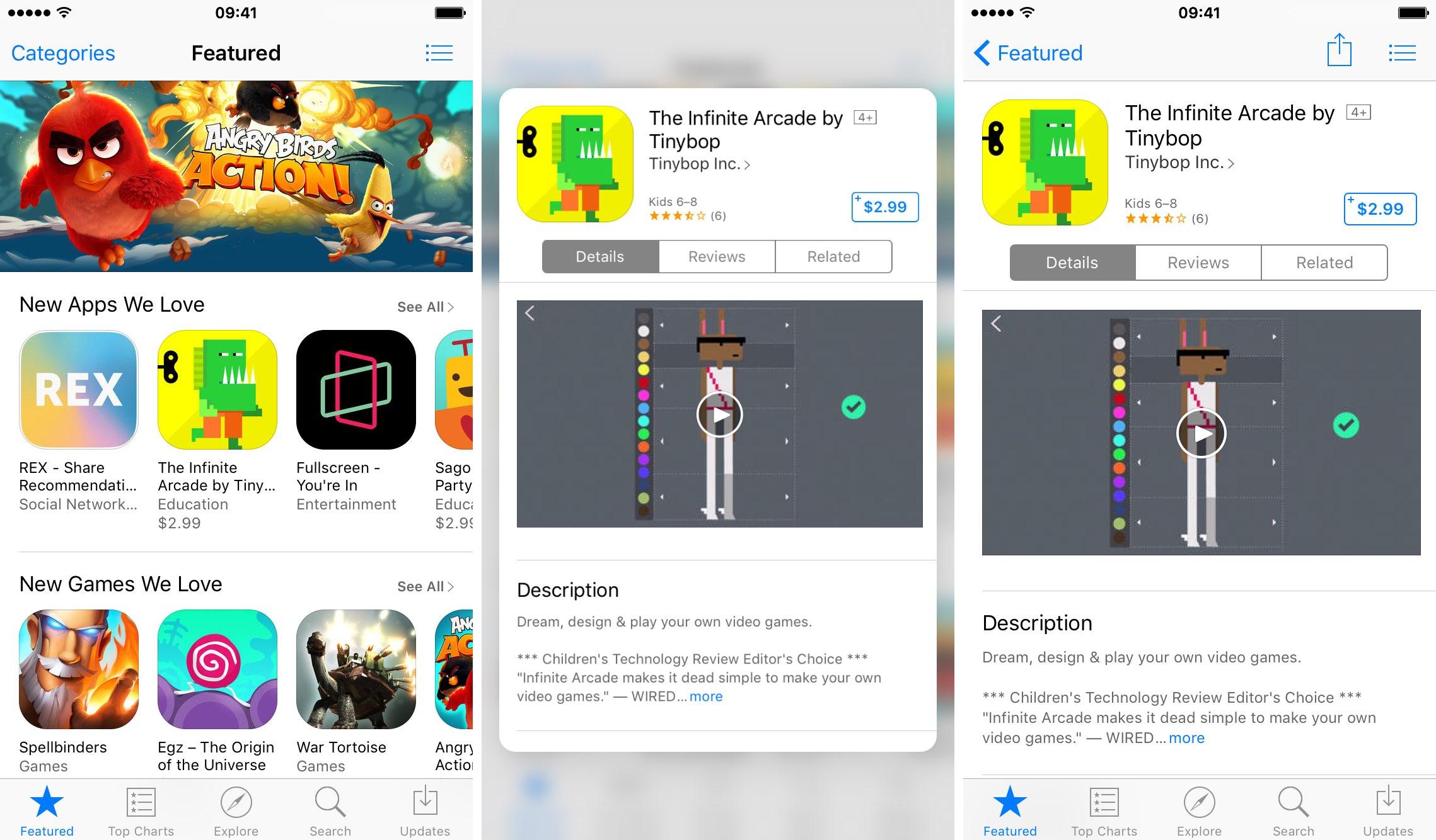iOS 9.3 3D Touch App Store muestra una vista previa de iPhone 001