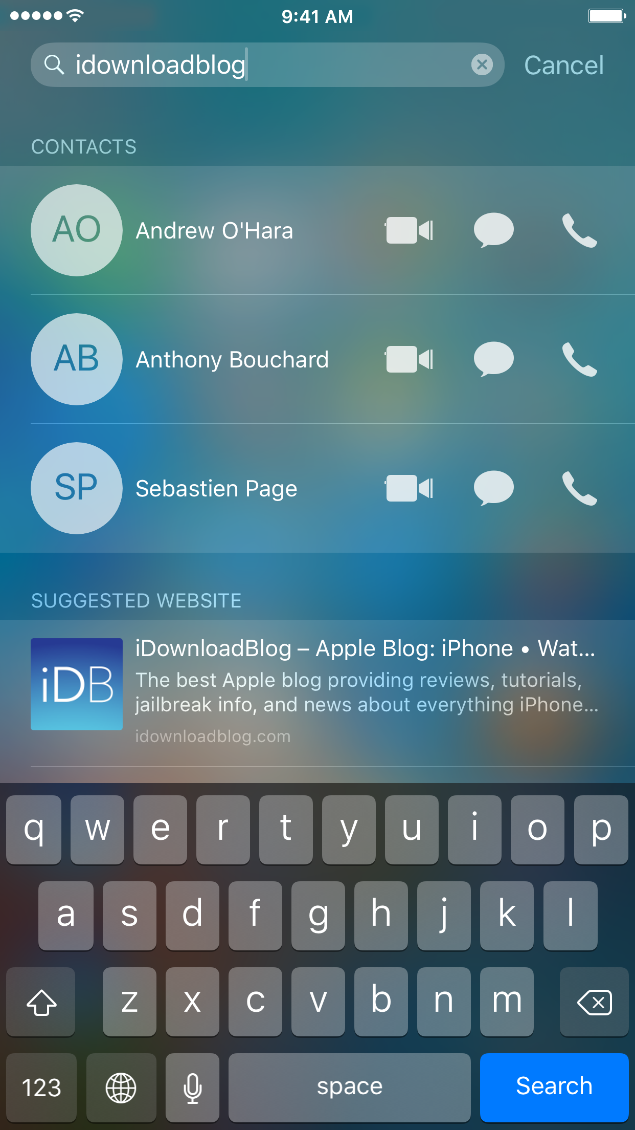 iOS Spotlight Example iDB Search