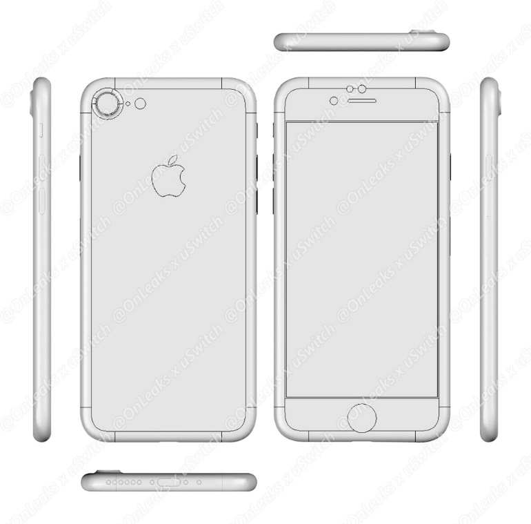 iPhone 7 CAD drawings uSwitch leak 001