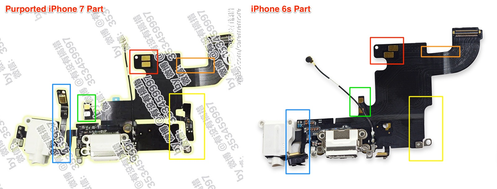 iPhone 7 vs iPhone 6s headphone jack NowhereElse leak 001