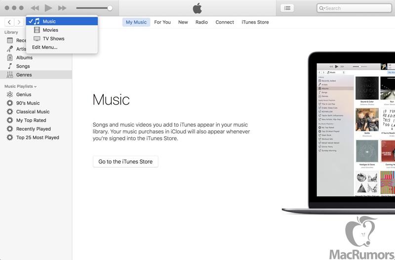 iTunes 12.4 media picker MacRumors leak 001
