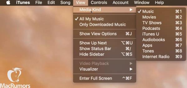 iTunes 12.4 simpler menus MacRumors leak 003