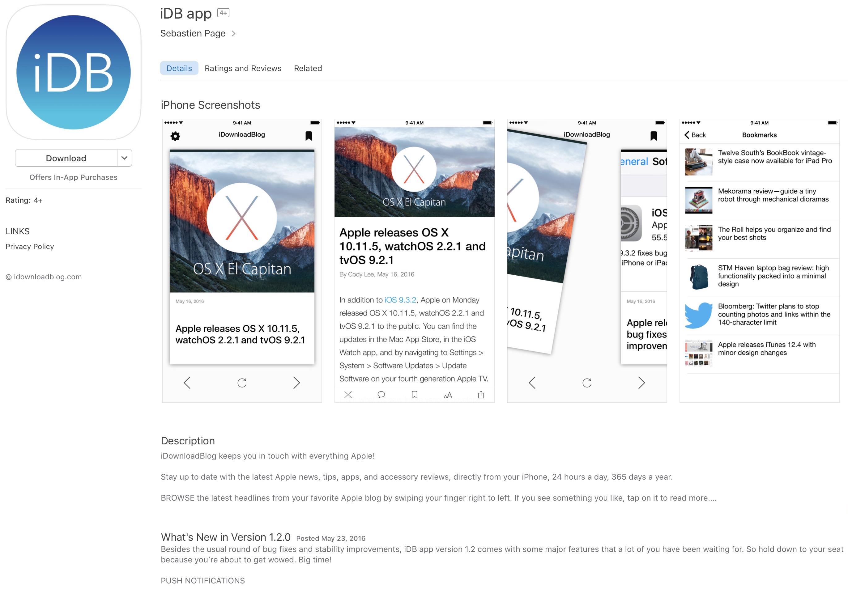 idb app v 1.2