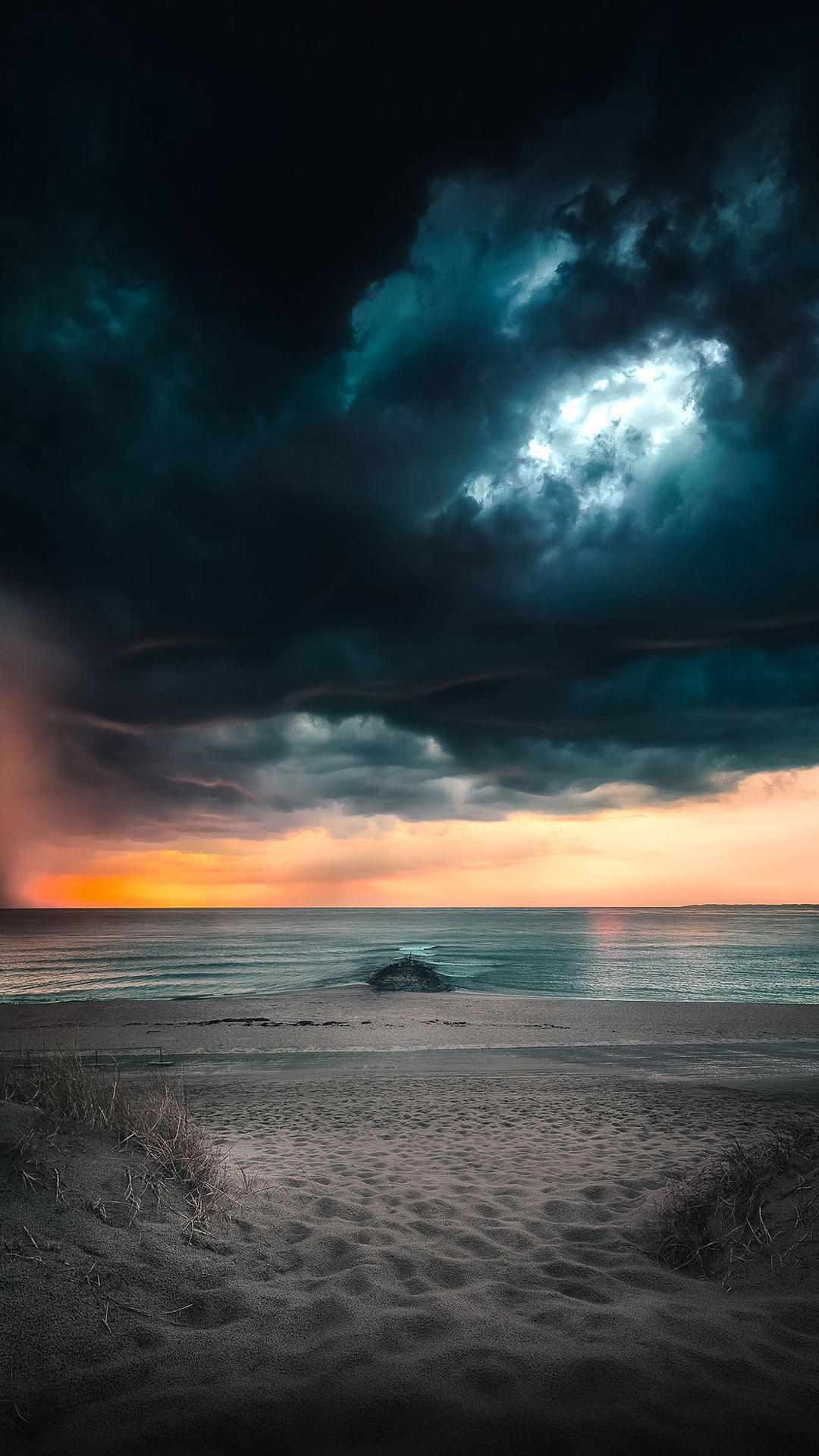 _macinmac_ iphone wallpaper sky sunset beach