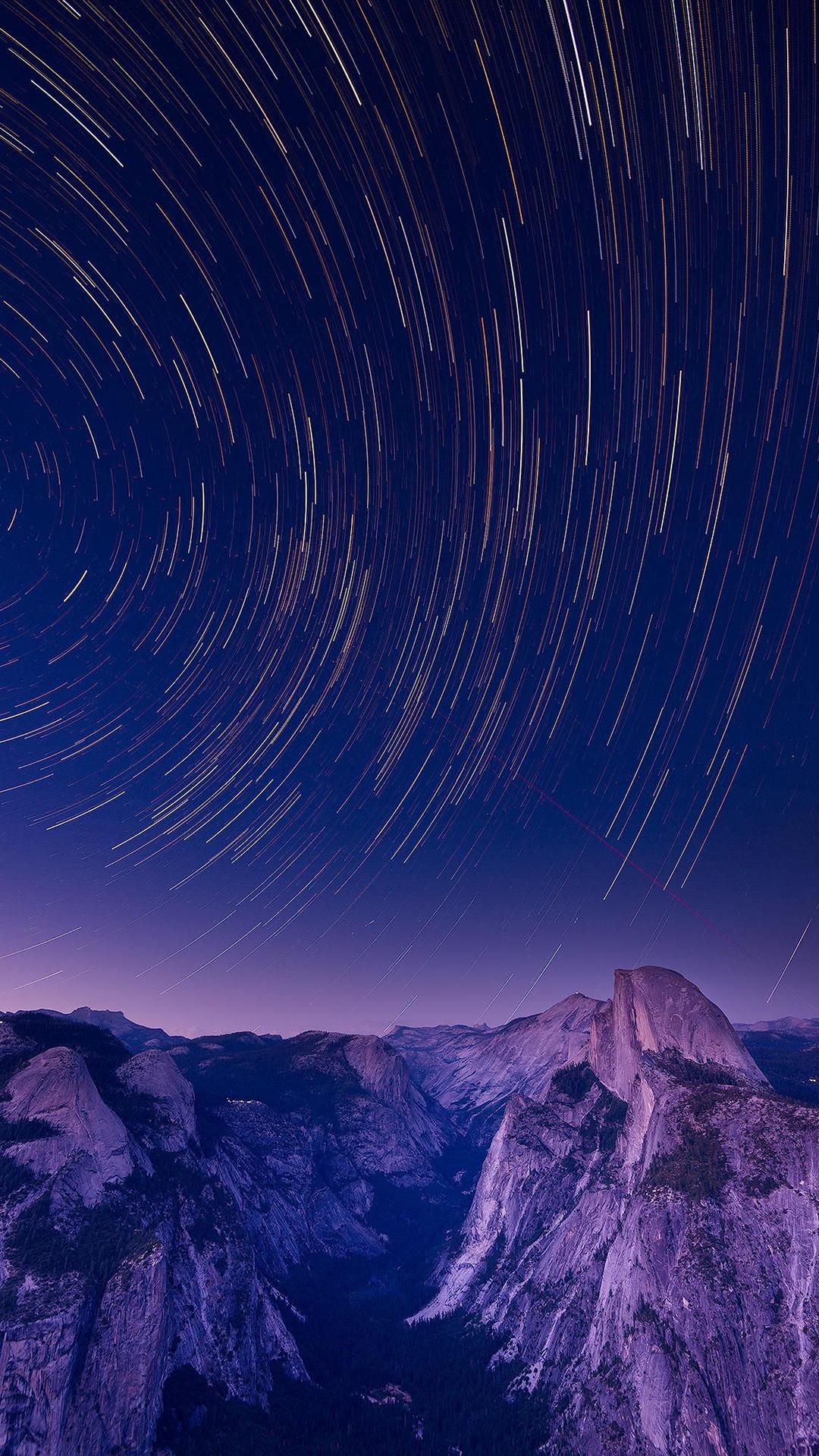 _macinmac_ iphone wallpaper sky yosemite stars half dome