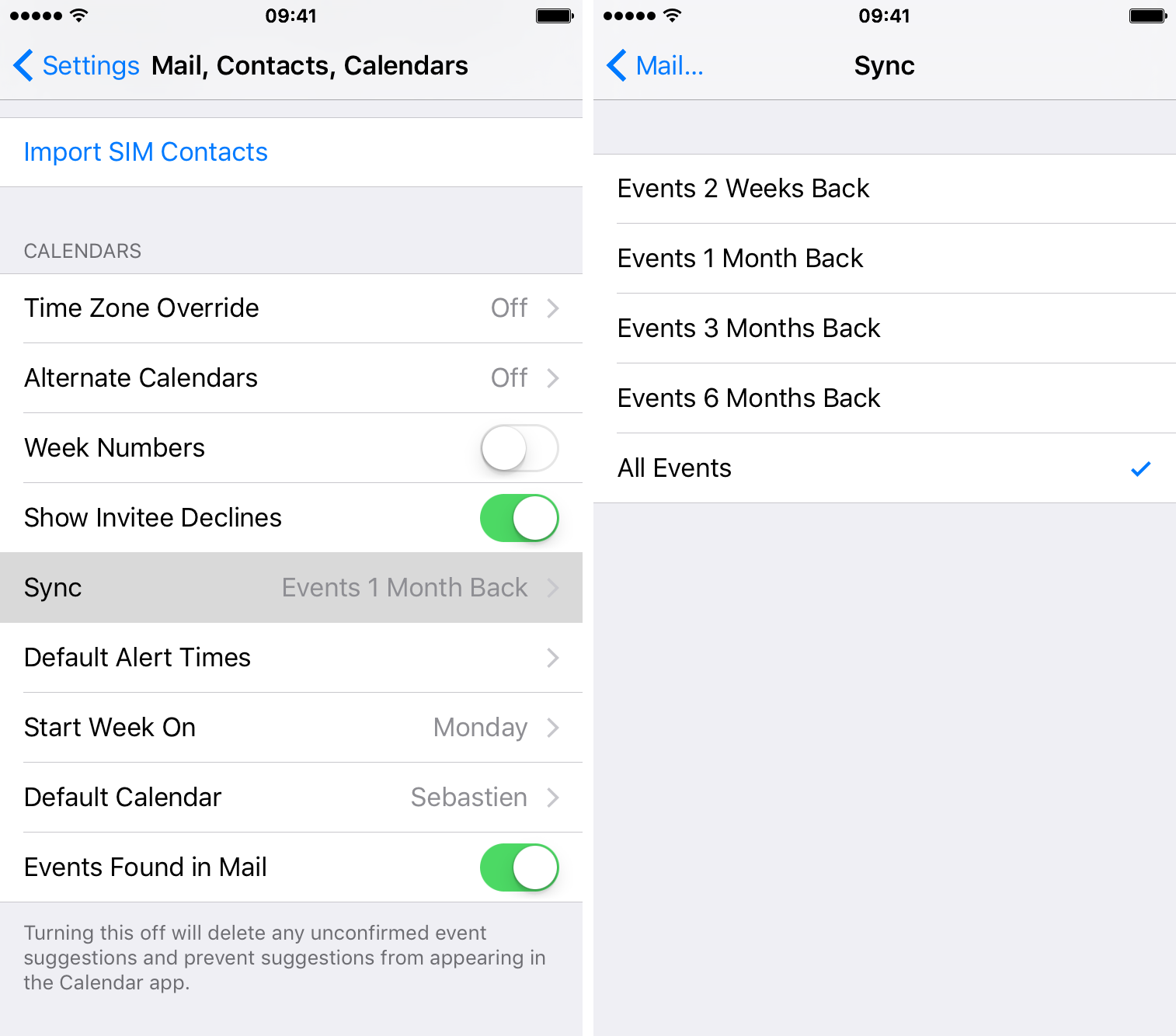 stop iPhone from deleting calendar events