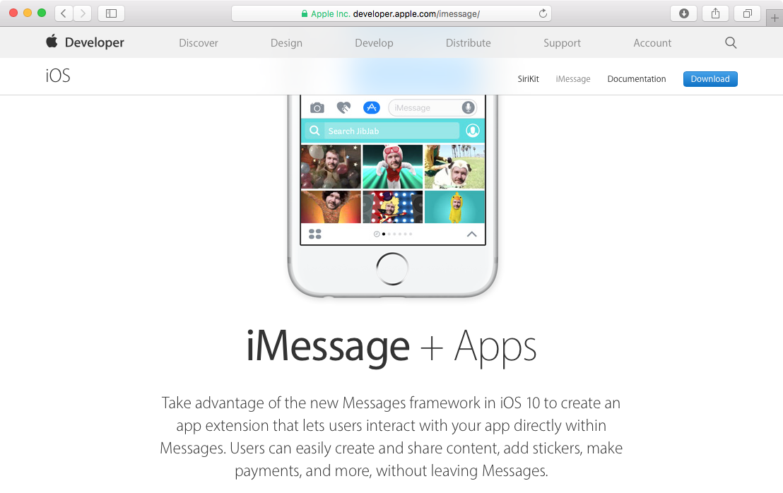App Store for iMessage web screenshot 001