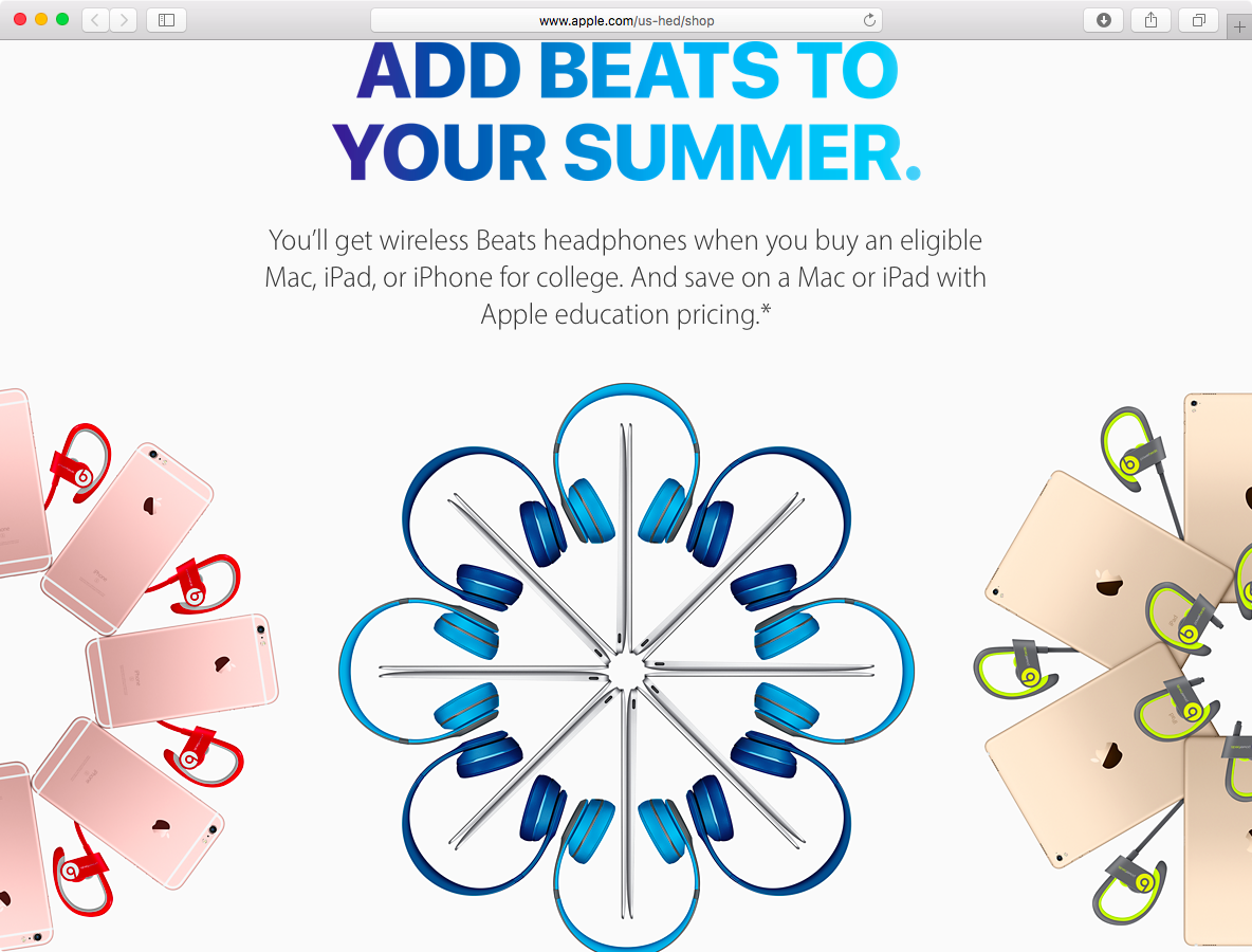 Apple 2016 BAck to School USA web screenshot 001
