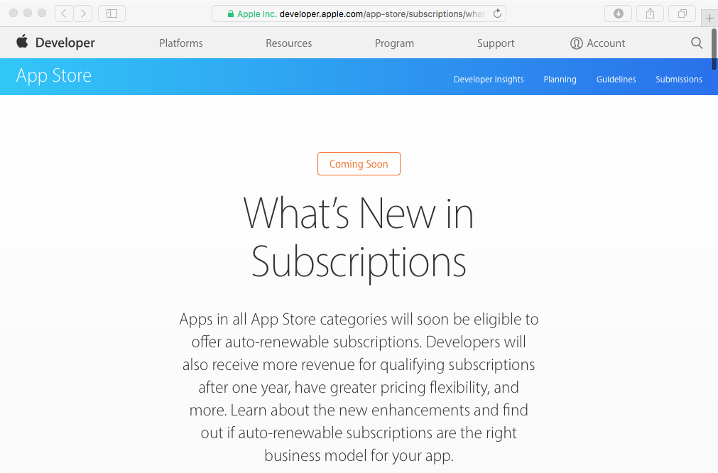 Apple confirms that subscription apps won't be obliged to