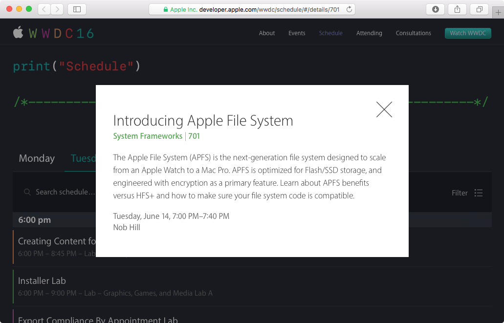 Apple file System WWDC 2016 teaser 001