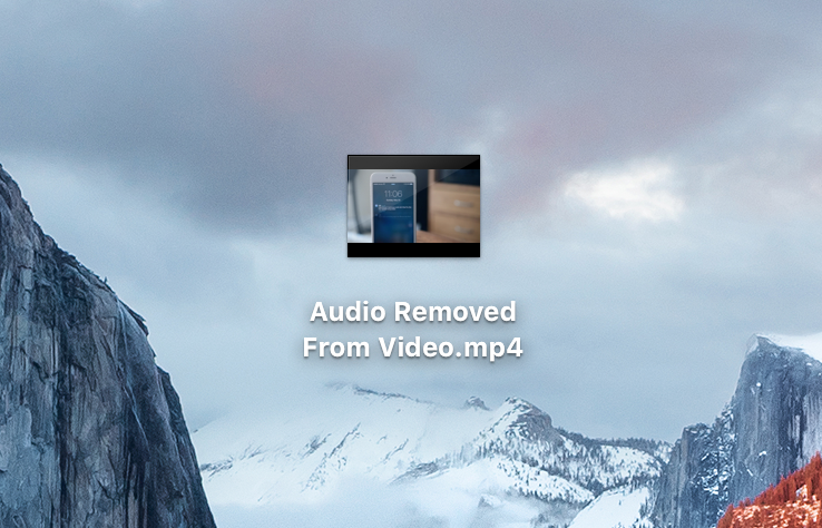 Audioless Video File on Desktop