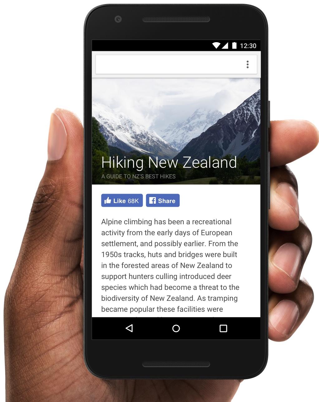 FAcebook Like button mobile