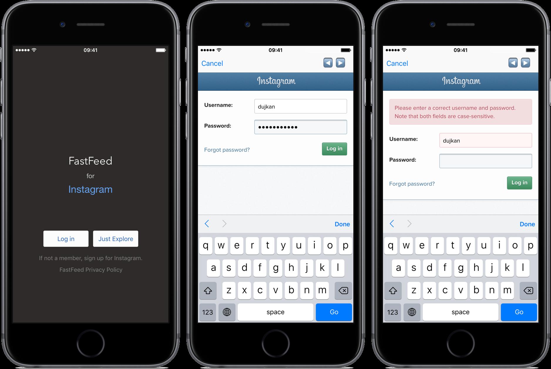 Las aplicaciones de Instagram dejan de funcionar Captura de pantalla del iPhone 001