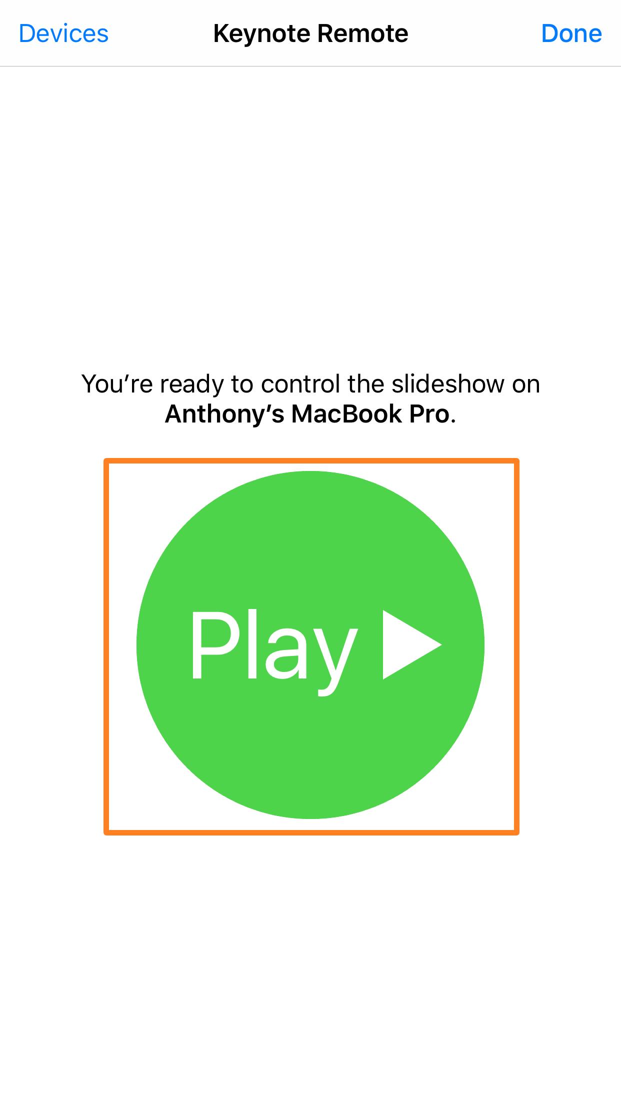 Aplicación Keynote para iOS Jugar