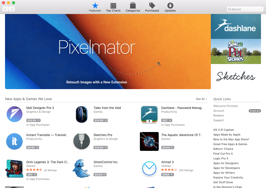 Mac App Store Featured tab June 2016 OS X Screenshot 001