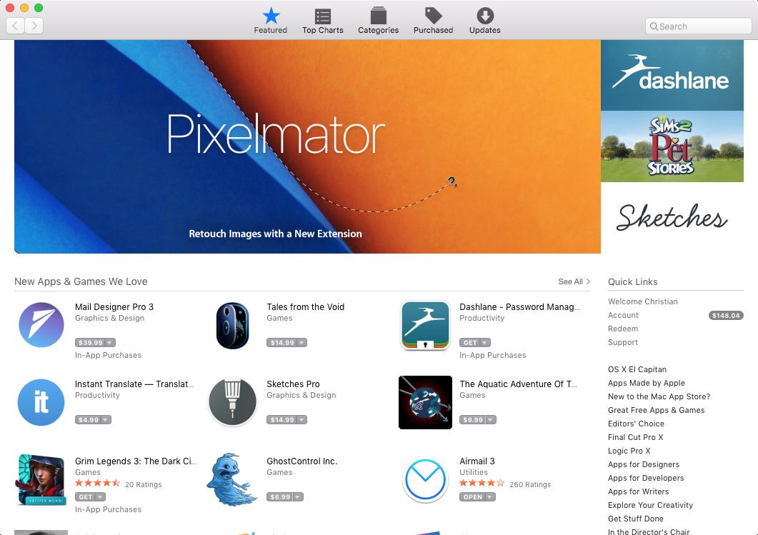 Mac App Store Pestaña destacada Junio de 2016 OS X Captura de pantalla 001