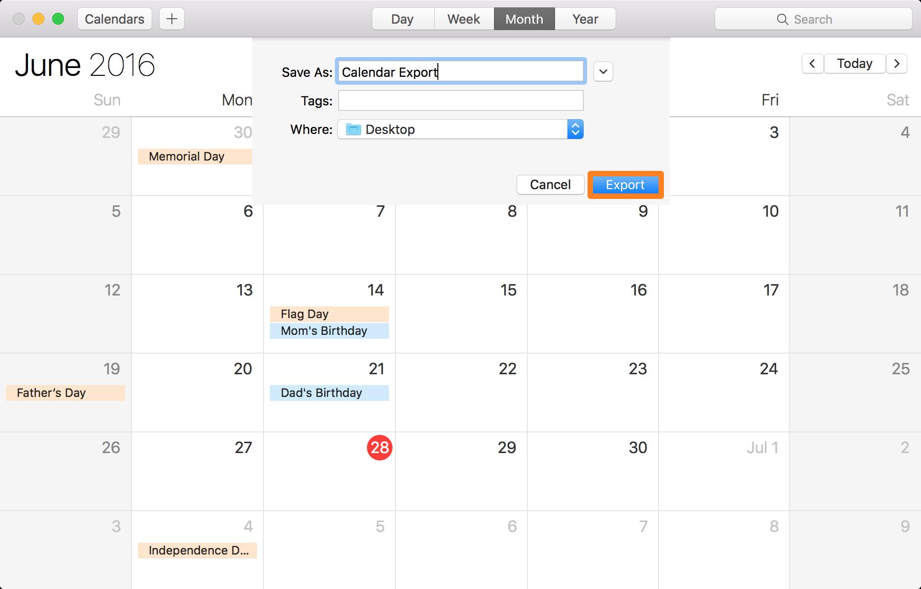 Mac Calendar App Export