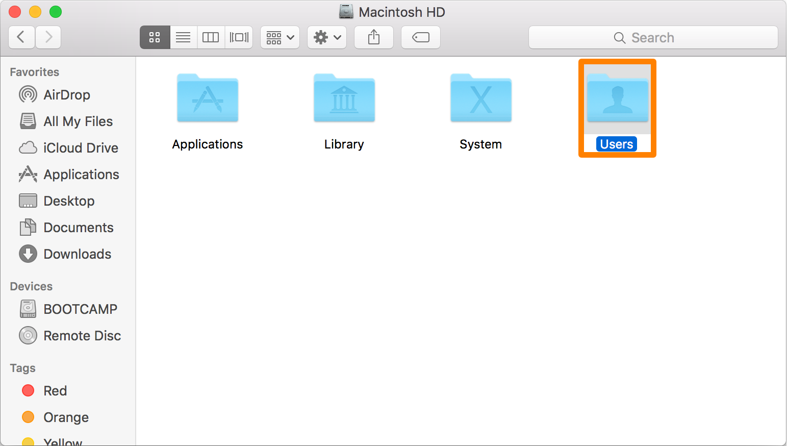 Macintosh HD Users Folder
