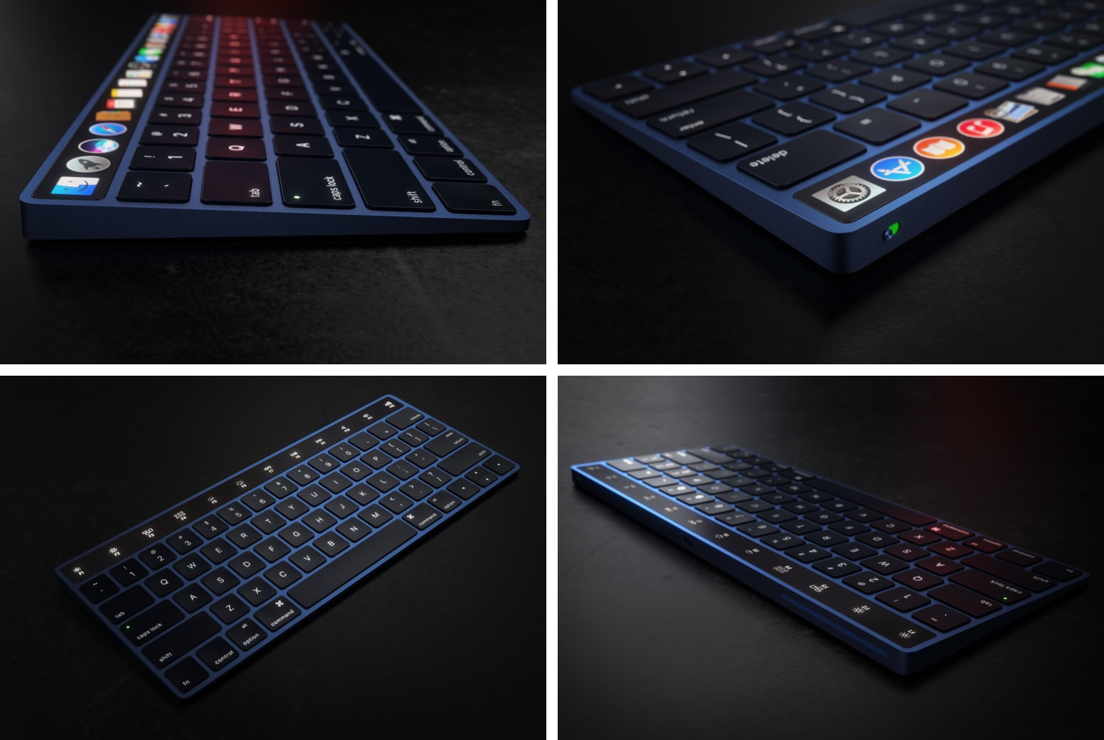 OLED Magic Keyboard Curved concept 001