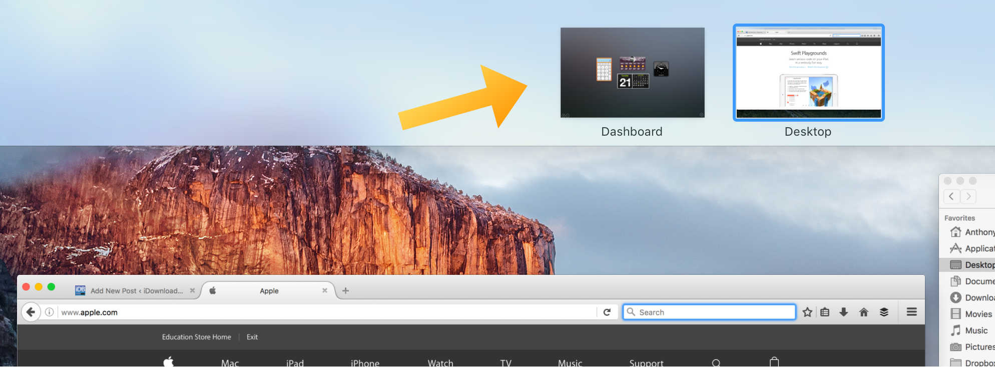 OS X Dashboard in Spaces