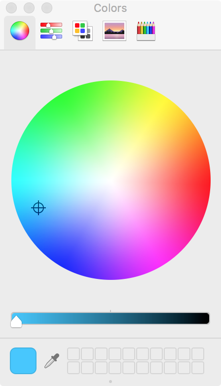 Selector de color OS X Finder
