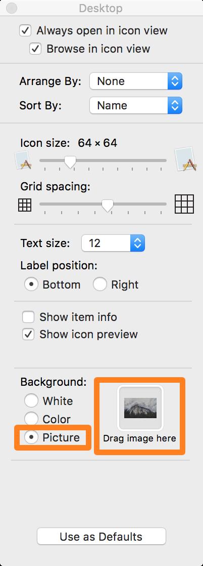 OS X Finder Folder Image Selector