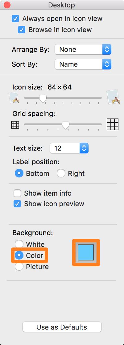 OS X Finder Folder Options 2