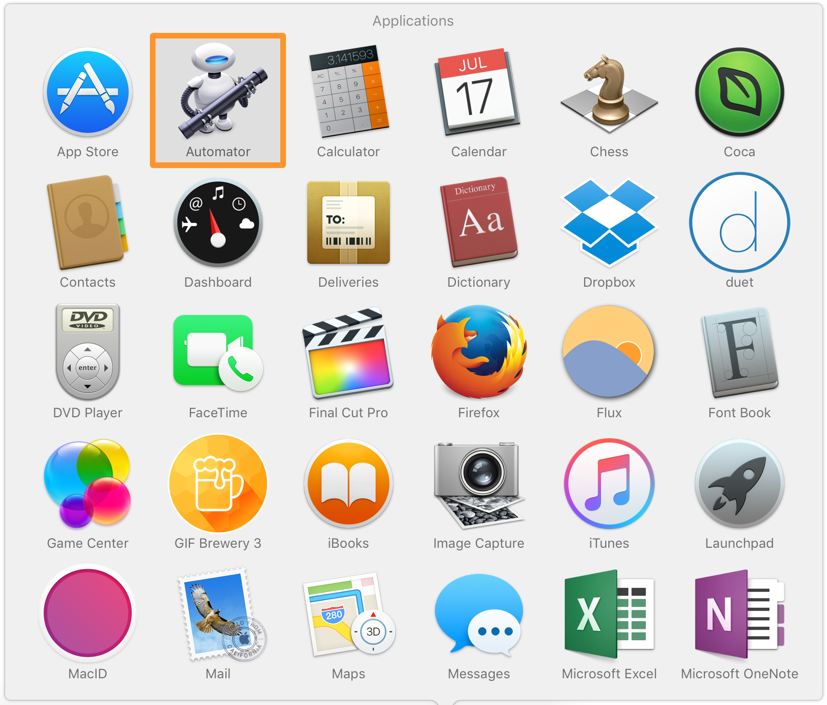 OS X Launch Automator