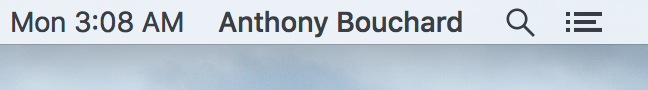 OS X Menu Bar Full Name