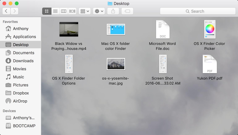 OS X image finder background