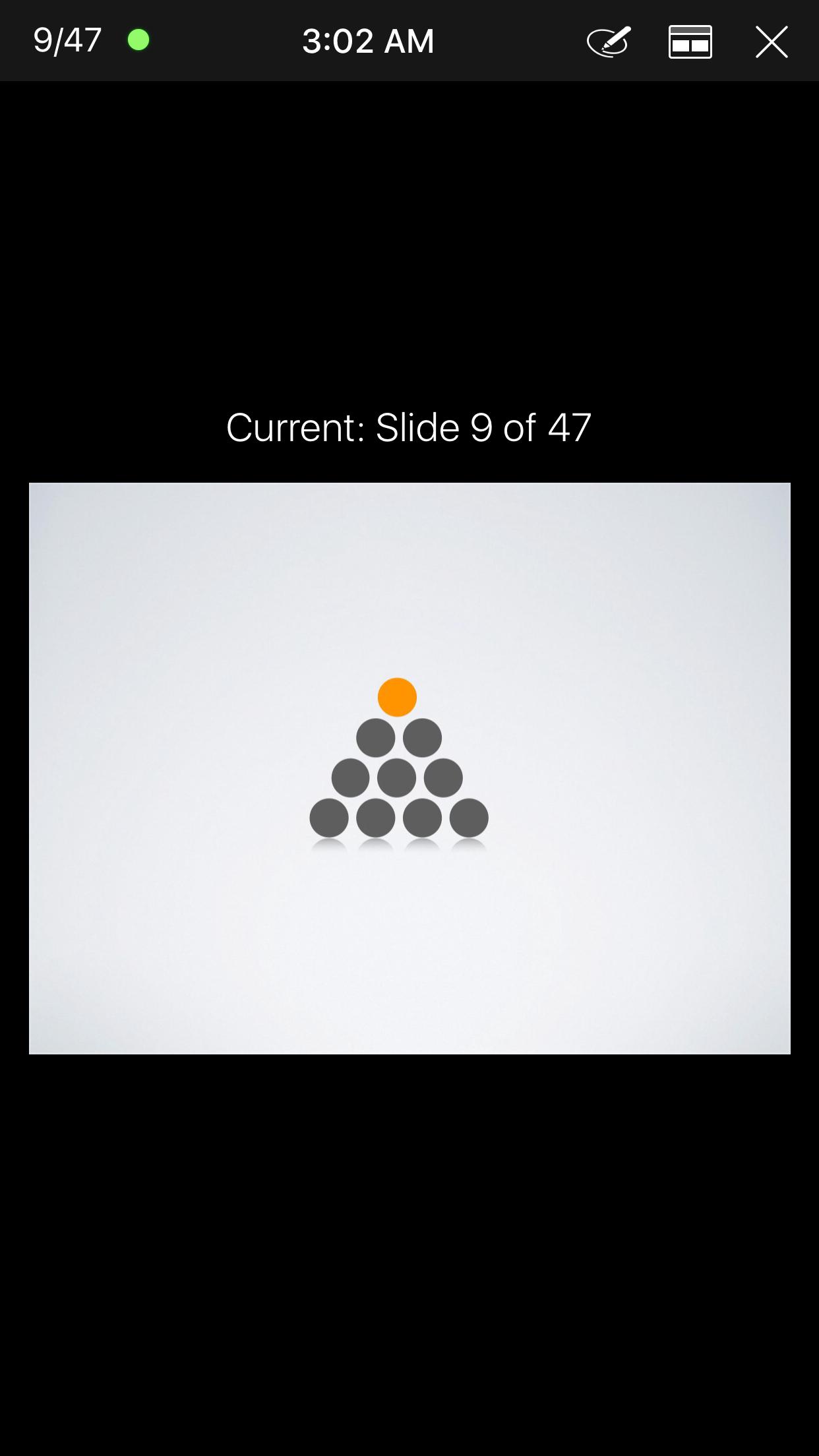 Reproducción de keynote desde el dispositivo iOS remoto