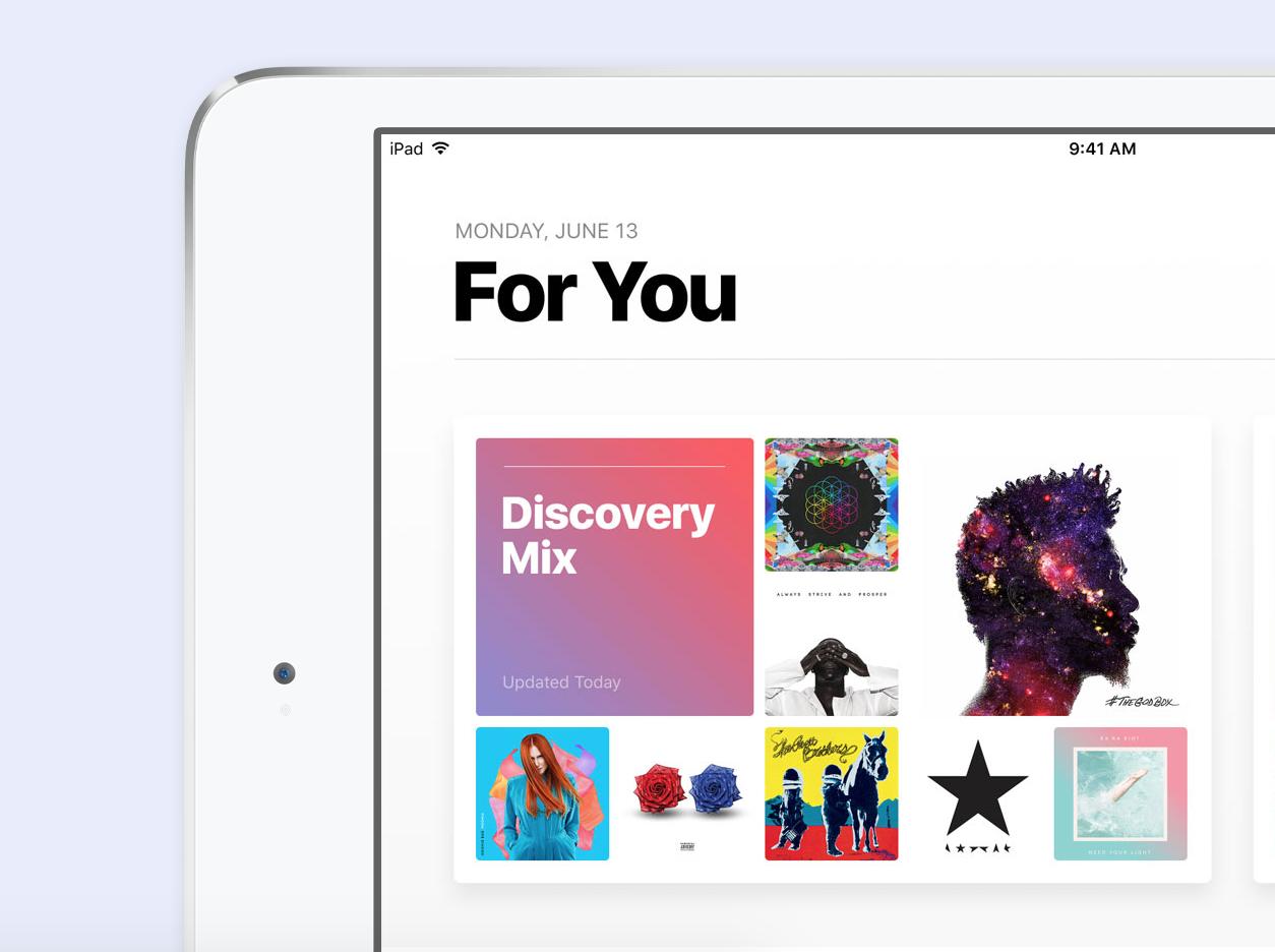 Redesigned Apple Music iOS 10