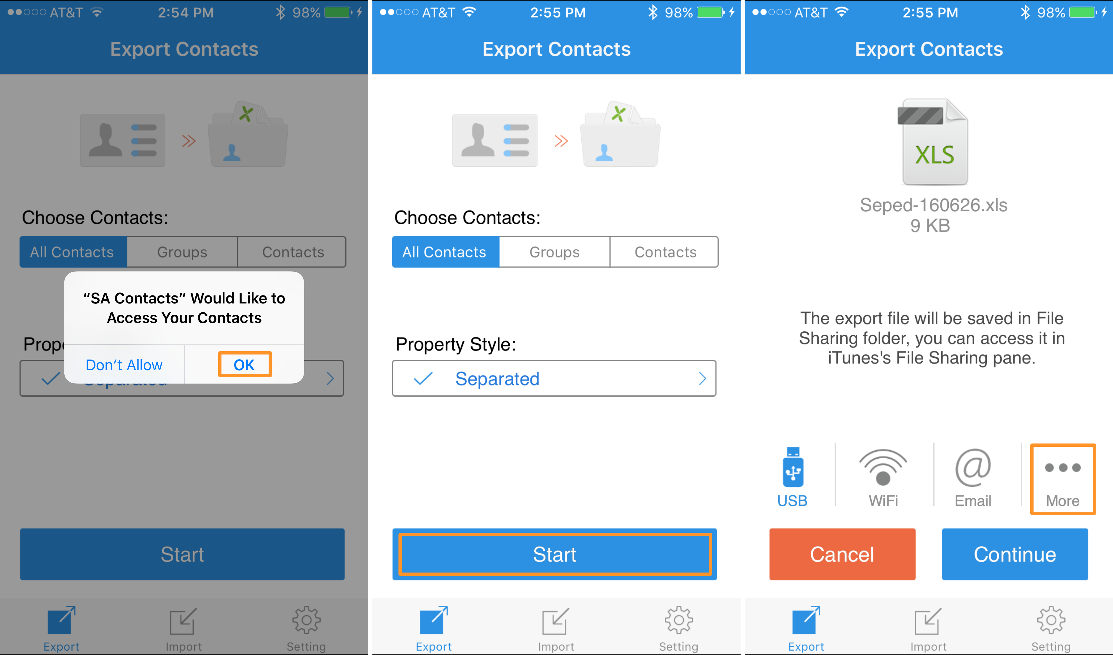 How to export your iPhone contacts to Excel or a CSV file