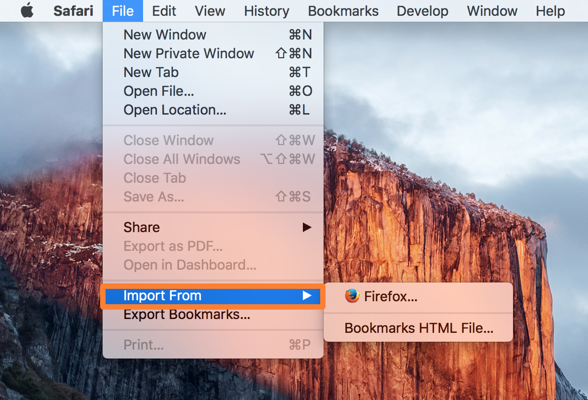 Safari Import From Menu Bar Mac