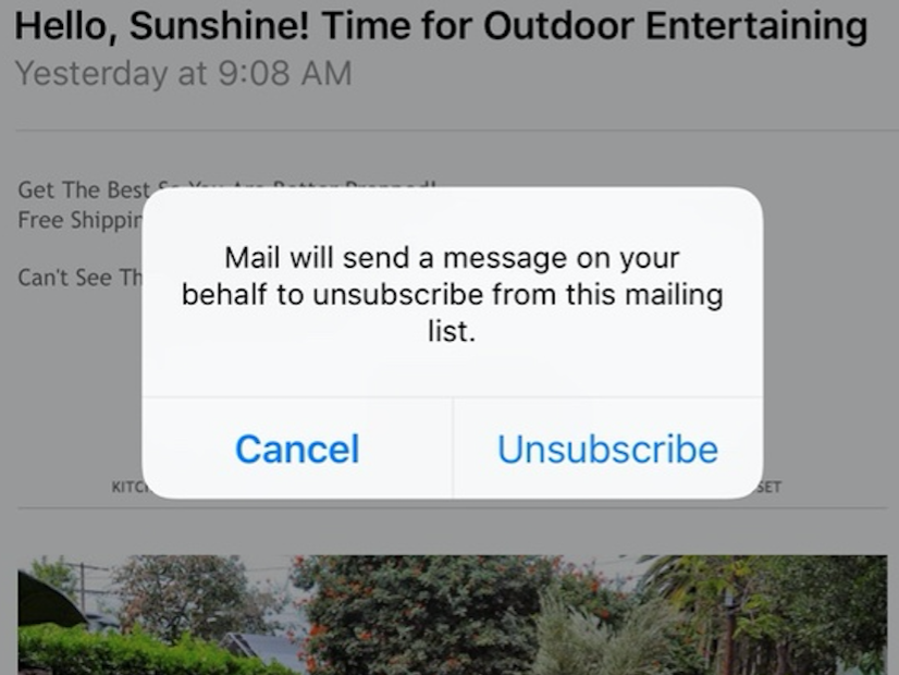 Unsubscribe from Email Alert
