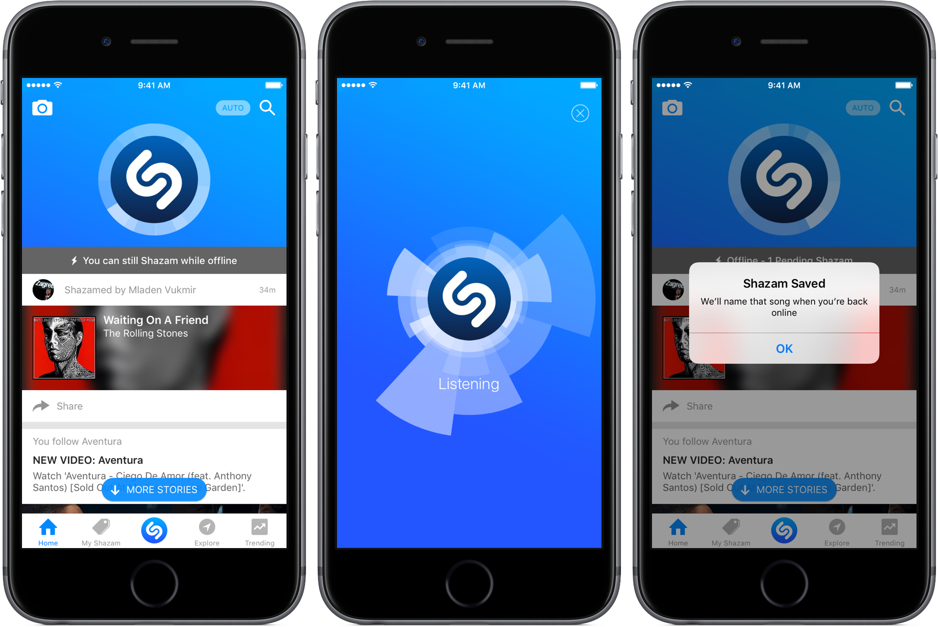 Shazam 9.7 for iOS iPhone screenshot 001