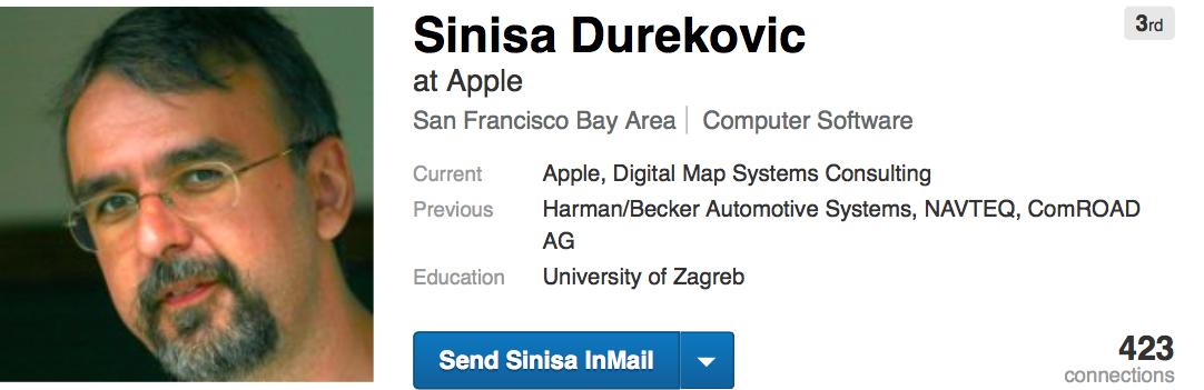 Sinisa Durekovic LinkedIn profile