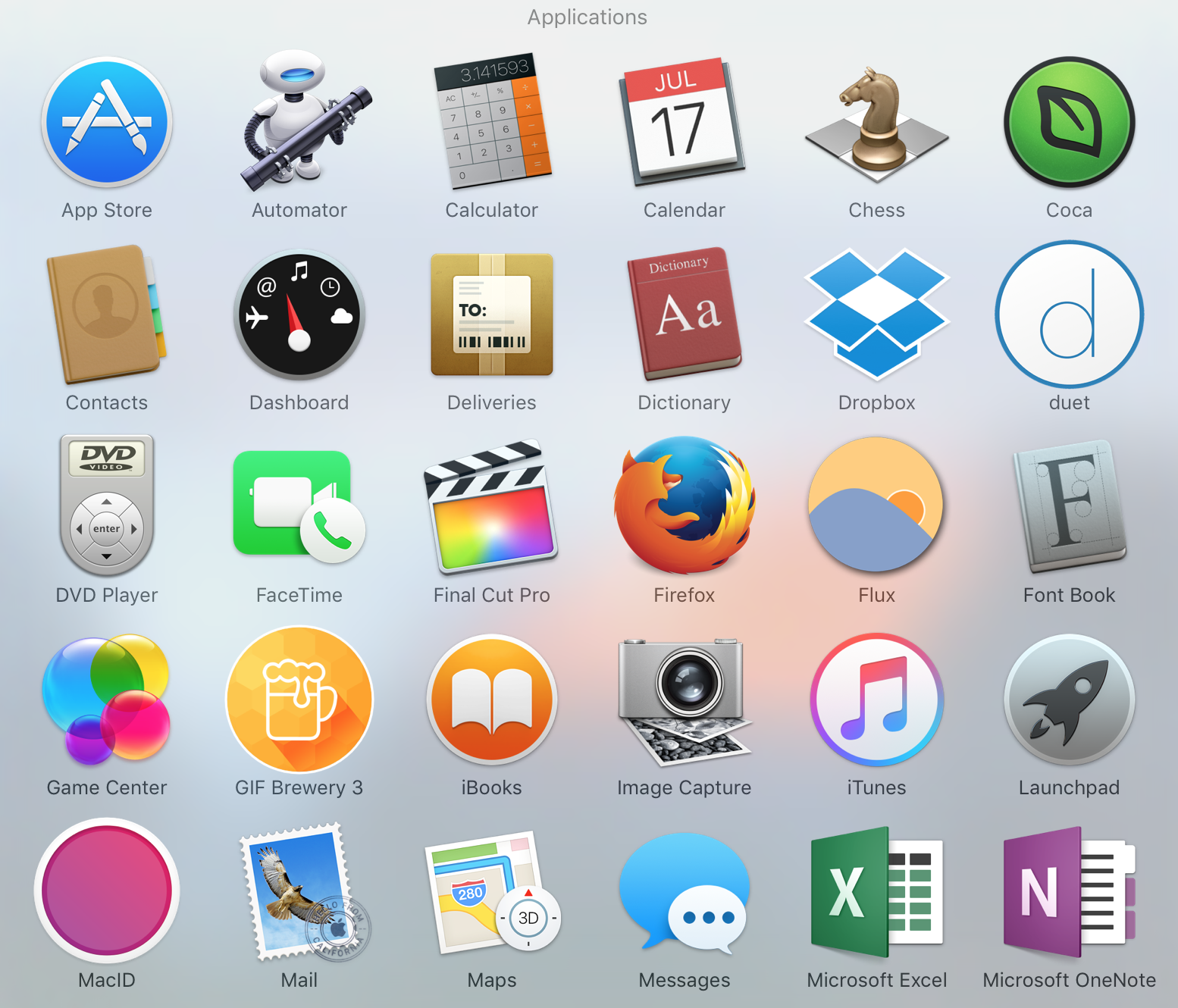 Image Gallery mac os icons