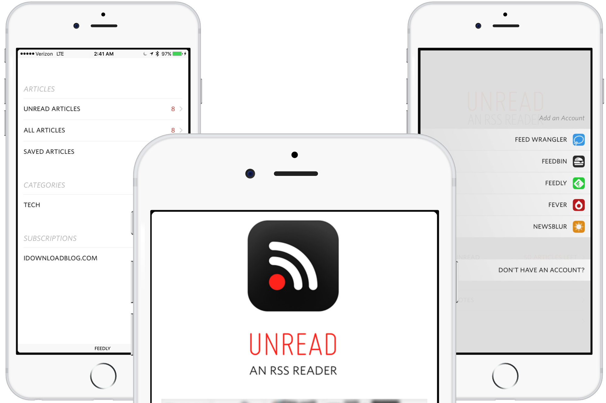 Unread RSS App Screenshots