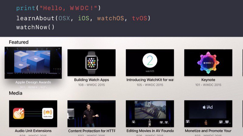 WWDC for tvOS Apple TV screenshot 001