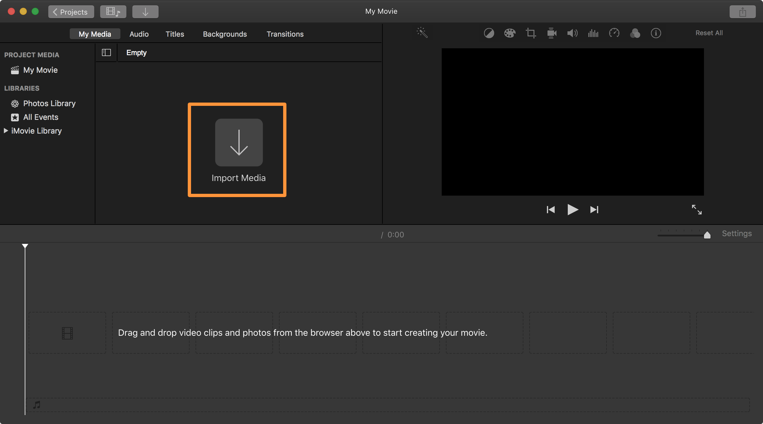 How to remove sound from a video file with iMovie on Mac