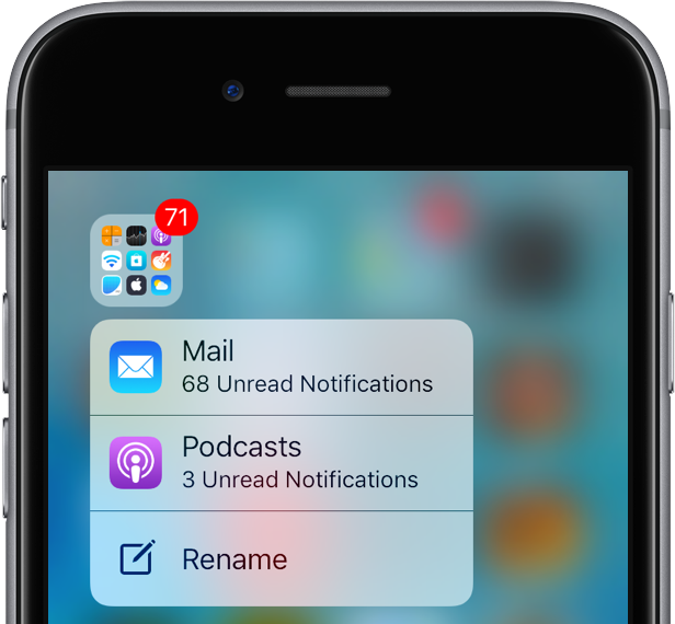 pretty nice bc6cc e5fbd iOS 10 tidbit: using 3D Touch to rename folders and seeing their ...