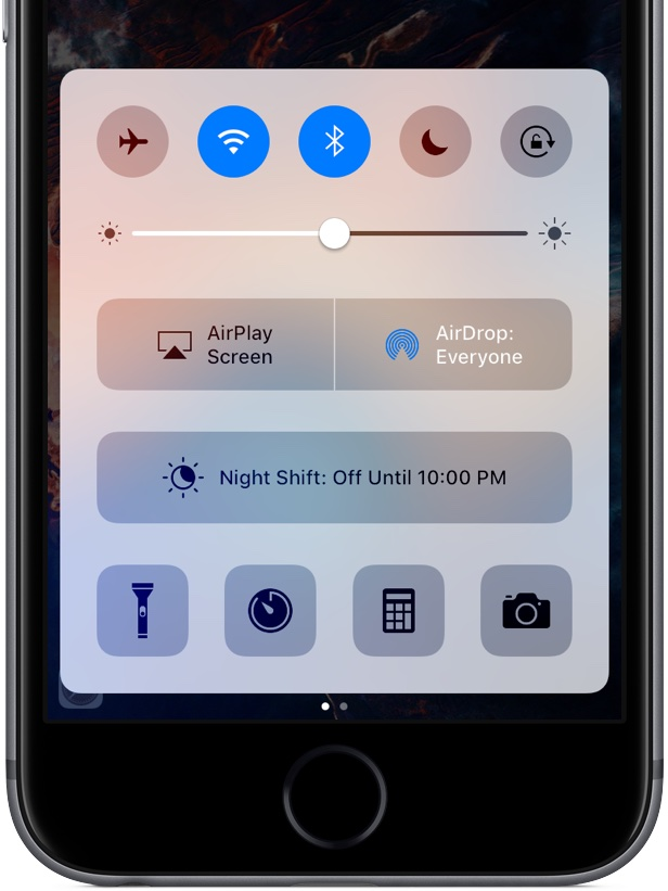 iOS 10 Control Center iPhone screenshot 003