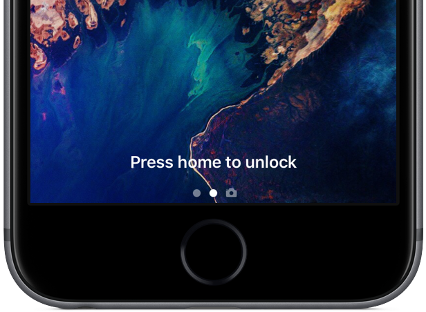 iOS 10 Lock screen Press home to unlock image 003