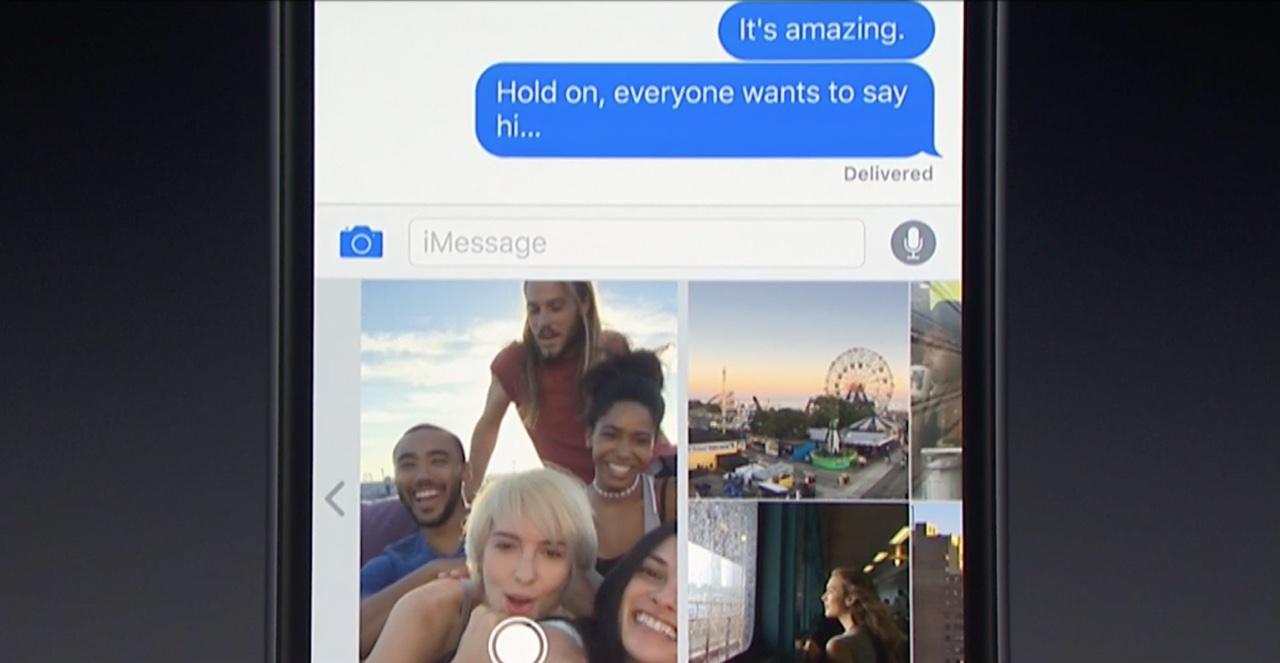 iOS 10 Mensajes Cámara teaser 001