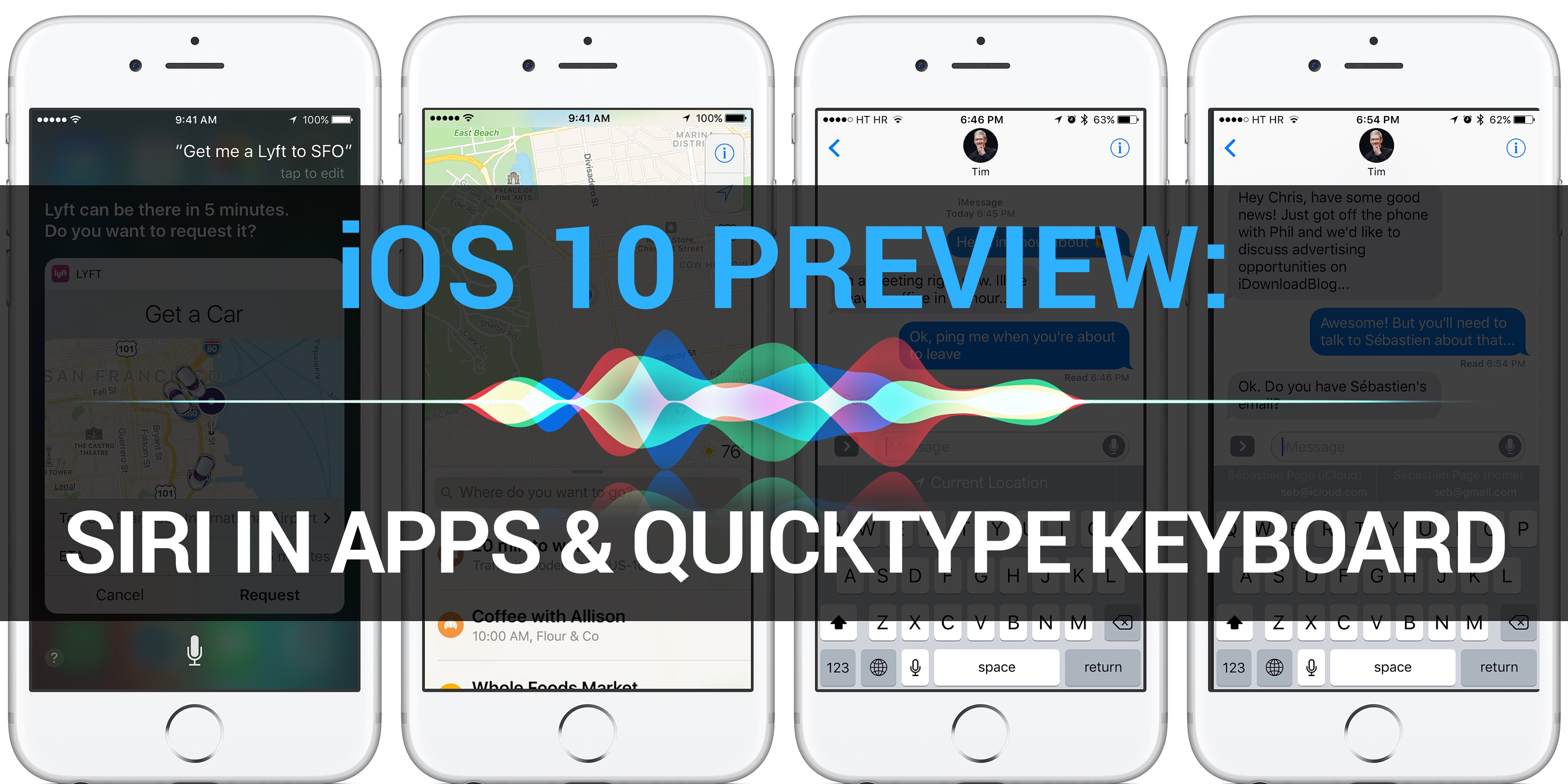 iOS 10 Preview Siri apps QuickType keyboard teaser 001