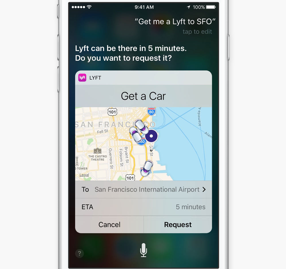 iOS 10 Siri Support for Third Party Apps