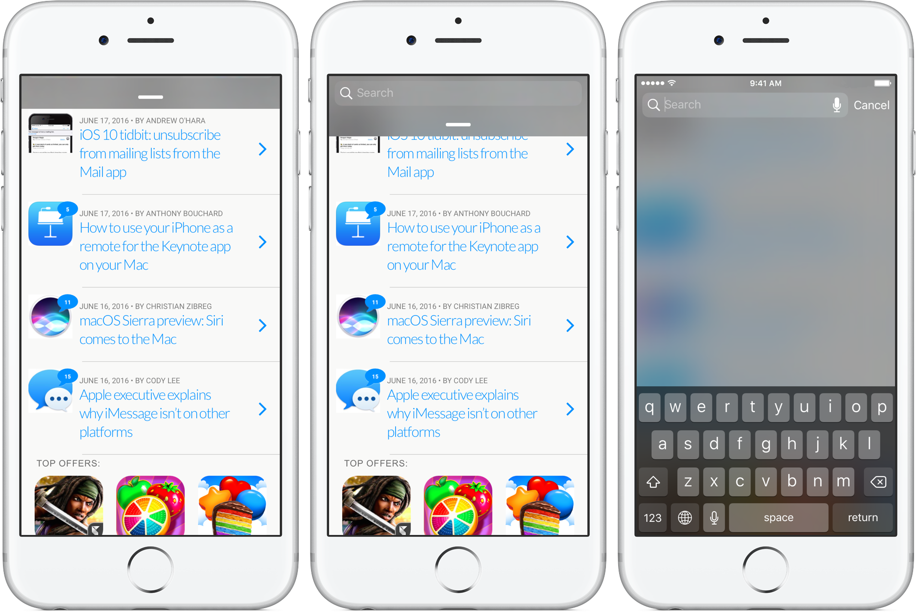 iOS 10 tidbit: getting to Spotlight from any app, in an instant