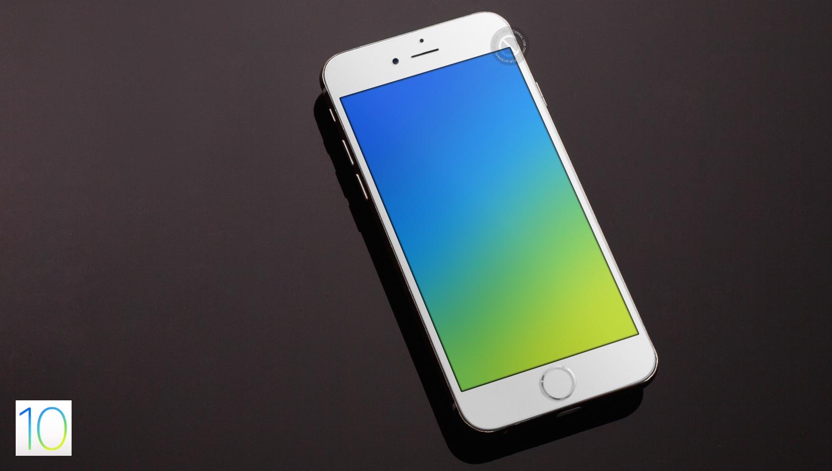 iOS 10 splash icon wallpaper kiwimanjaro